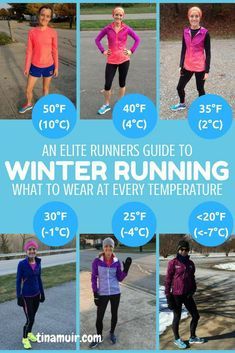 health fitness - A runners guide What to wear for every winter run This is so helpful to know what the elites wear for every temperature from 50 degrees to below 20 as well as how it changes when running hard or if there is wind Cardio Training, Running Workouts, Running Tips, Trail Running, Running Training Programs, Running Food, Walking Workouts, Running Challenge, Song Workouts