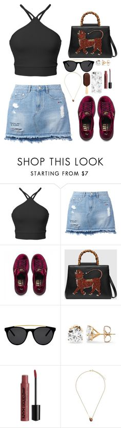 """Untitled #303"" by emmeleialouca on Polyvore featuring Steve J & Yoni P, Puma, Gucci, Smoke x Mirrors, Wouters & Hendrix Gold and Casetify"