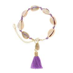 Purple Shell Bracelet