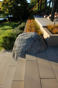 hardscaping, stairs, hardscape, boulder, landscape art, landscaping, seating, landscape architecture