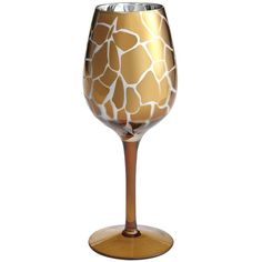 Pier One Metallic Leopard Drinkware - Goblet ($11) ❤ liked on Polyvore