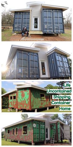 Life Uncontained Shipping Container Home - Life Uncontained Shipping Container Home After years spent not knowing what to do with our lives, we have finally decided to chase what makes us happy. Sea Container Homes, Building A Container Home, Container Buildings, Container Architecture, Architecture Design, Shipping Container Design, Shipping Container House Plans, Container House Design, Container Conversions