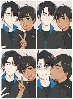 Find images and videos about anime, yuri on ice and phichit chulanont on We Heart It - the app to get lost in what you love. Fanarts Anime, Anime Manga, Anime Guys, Yuri On Ice Ships, Yuri On Ice Wallpaper, Haikyuu, Manhwa, Sara Crispino, Yuri!!! On Ice