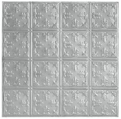 """Metallaire Vine Metallaire Collection Tin Metallic 48"""" x 24"""" Panel 5424210NLS by Armstrong"""