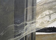 """Andrew Wyeth (American, - """"Wind From The Sea"""" (detail), 1947 - Tempera on hardboard (National Gallery of Washington DC) Andrew Wyeth Paintings, Andrew Wyeth Art, Jamie Wyeth, Nc Wyeth, Museum Studies, National Gallery Of Art, Windy Day, Famous Artists, American Artists"""