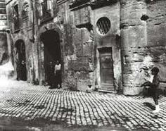 Very old photo (19th century) of the Jewish ghetto, Rome, Italy