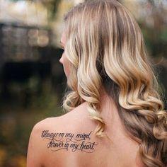 ▷ Tattoo Ideas for tattooing - Tattoo Ideen - tattoos Tattoo Girls, Quote Tattoos Girls, Girl Back Tattoos, Tattoos For Kids, Tattoos For Daughters, Rip Tattoos For Dad, Inspiring Quote Tattoos, Meaningful Tattoo Quotes, Phrase Tattoos