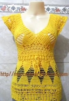Crocheted top + pattern