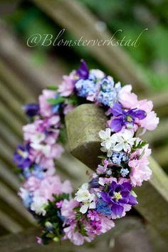 Lovely purple and pink spring wreath
