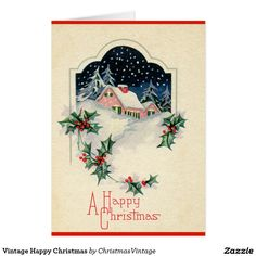 Vintage Happy Christmas