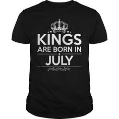 Cool KINGS ARE BORN IN JULY T-Shirts