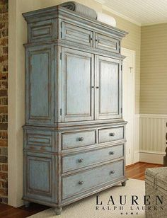 Lauren Ralph Lauren home has a new line of furniture at Haverty's! Paint Furniture, Furniture Projects, Furniture Makeover, Home Furniture, Armoire Makeover, Furniture Websites, Funky Furniture, Space Furniture, Furniture Storage