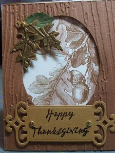 Thanksgiving Card | Hand stamped cards | Pinterest