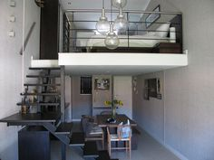 Pretty Suspended Bedroom for The Small Area : Split Level Loft Bedroom Understair Ideas
