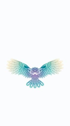 Minimal iPhone wallpaper ❤ owl spreading wings