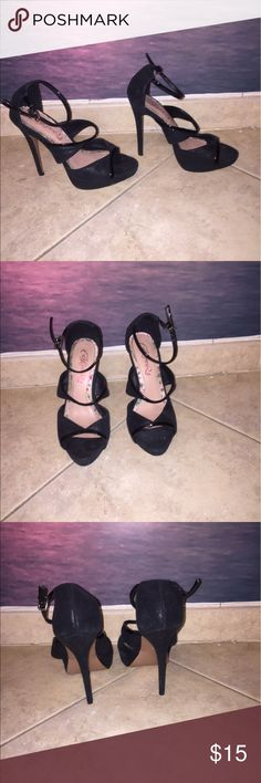 Black Heels Used a few times, very comfortable. Shoes Heels