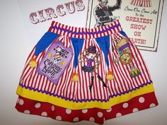 The Circus Is In Town /  Skirt. $56.00, via Etsy.
