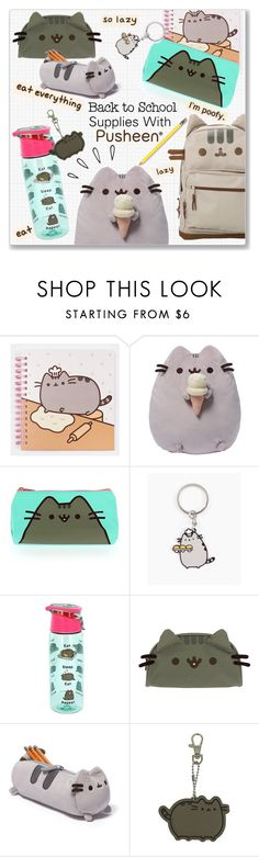 """Back to School Supplies With Pusheen #PVxPusheen"" by kellylynne68 ❤ liked on Polyvore featuring interior, interiors, interior design, home, home decor, interior decorating, Pusheen, Gund and Old Navy"