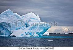 Stock Photo - Huge iceberg in Antarctica - stock image, images, royalty free photo, stock photos, stock photograph, stock photographs, picture, pictures, graphic, graphics