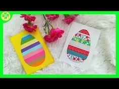 Kartka wielkanocna - jajko z pasków papieru / Easter card - paper strip egg Paper Strips, Diy Cards, Happy Easter, Eggs, Easter Card, Spring, Youtube, Fiestas, School