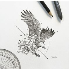 Geometric Beast | Eagle by Kerby Rosanes
