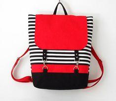 Bag to School - Handmade Stripy bag on Etsy