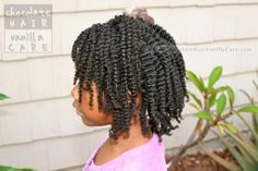 Side Flat Rope Twists with Box Twist-Out #NaturalHair | Chocolate Hair / Vanilla Care