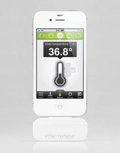 App based Zubehör: +plugg +thermometer für iPhone, iPad und iPod touch - Misst Körperthemperatur, Umgebungsthemperatur oder Lebensmittel. Cooles Gadget!