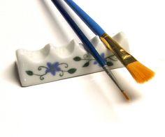Ceramic Artist Brush/Pen Rest by sumiko2 on Etsy, $15.00