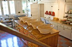 Martha Stewart laundry and craft room.
