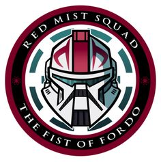 Red Mist Squad Insignia by JoeHoganArt on DeviantArt Star Wars Commando, Star Wars Drawings, Galactic Republic, Star Wars Images, Star Wars Wallpaper, Star Wars Fan Art, Star Wars Poster, Star Wars Clone Wars, Clone Trooper