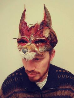 Handmade Red Fox Mask Woodland Fox Mask Festival by CuriousFair, £55.00
