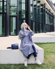 trendy ideas for fashion hijab casual style Hijab Casual, Hijab Chic, Simple Hijab, Modern Hijab Fashion, Street Hijab Fashion, Muslim Fashion, Trendy Fashion, Style Fashion, Fasion