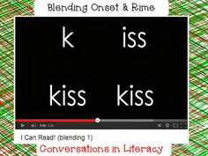 Blending onset and rime video for kids-stop video before the last word.