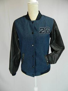 Check out this item in my Etsy shop https://www.etsy.com/listing/582619680/denim-letterman-jacket-number-26-size