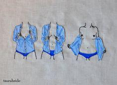 Embroidery by my friend Meghan Willis (aka tsurubride) - http://tsurubride.etsy.com