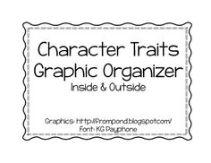 Character Traits Graphic Organizer ~ Freebie!