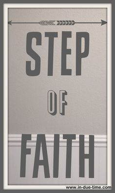 """Faith is acting like it is so, even when it is not so, in order that it might be so, simply because God said so."""