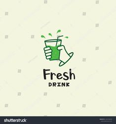 organic green monoline hand cold cup of fresh drink logo icon vector inspiration Food Branding, Logo Food, Branding Design, Logo Design, Tea Logo, Drink Icon, Drinks Logo, Instagram Highlight Icons, Shop Logo