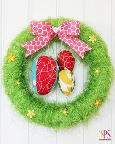 DIY Easter Egg Hunt Wreath - DIY Cute Easter Wreath Ideas