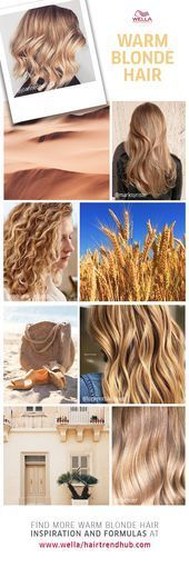 Warm Blonde Hair Color Inspiration  #blonde #color #inspirat