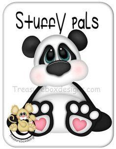 Stuffy Pals Panda  - Treasure Box Designs Patterns & Cutting Files (SVG,WPC,GSD,DXF,AI,JPEG)