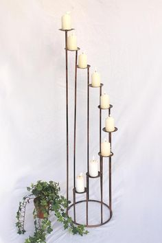 Kerzenständer Art.225 aus Schmiedeeisen 102 cm Kerzenleuchter Kerzenhalter Metal | eBay Candle Holders, Candles, Ebay, Wrought Iron, Hang In There, Candy, Candelabra, Candle, Candle Stands