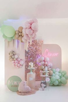 Birthday Balloon Decorations, Birthday Backdrop, Baby Shower Decorations, Youtube Birthday, Youtube Party, Girl Birthday, Birthday Parties, Balloons And More, Custom Balloons