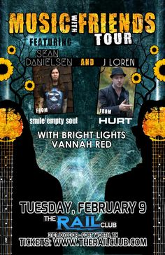 February 9, 2016 @ Rail Club - Sean Danielsen [from Smile Empty Soul] | J Loren [from Hurt] | With Bright Lights | Vannah Red