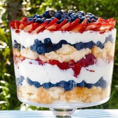 Make this trifle with the DCD white chocolate meyer lemon mix & our frosty white chocolate smoothie mix blended with whipped cream for a great smash at the 4th of July party