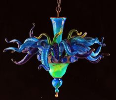 blown glass goblets - Awesome Blown Glass Chandelier Inspiration Designs – PITMM.NET