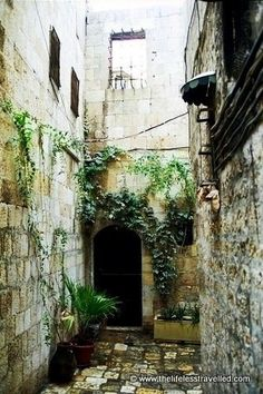 Entrance of old house. Aleppo Syria