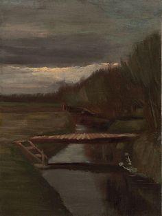 Vincent Van Gogh「Sloot en kleine brug」(1883)