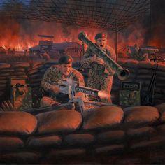 2018 GI Joe Convention box art, Green Beret Machine Gun Outpost.